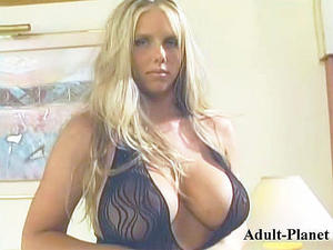 Stunning busty beauty Karen banged in bodystocking Cover